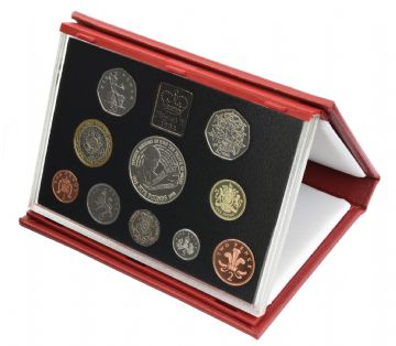 1998 Proof set red Leather deluxe
